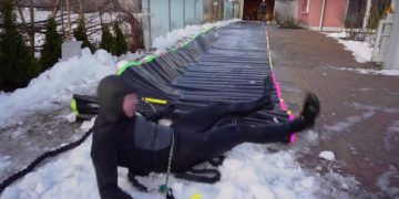 Winter Wasserrutsche