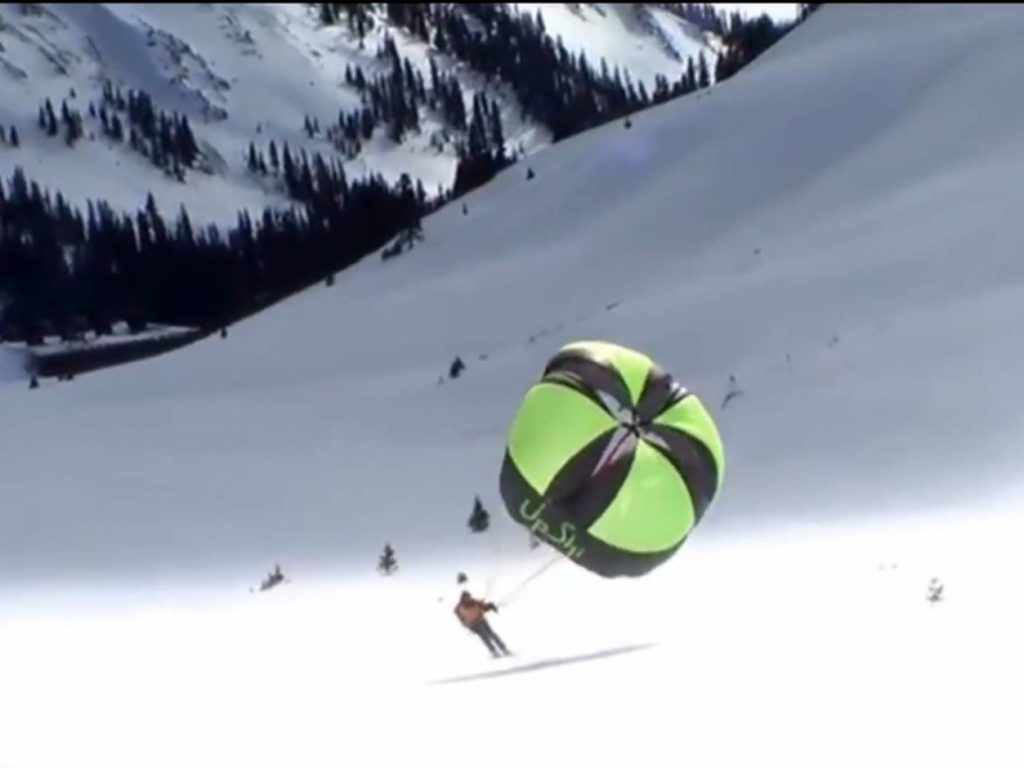 YouTube Video: UpSki Skifahren mit Segel