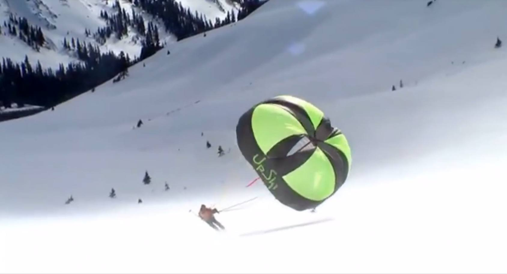 Skifahren mit dem UpSki SegelUpSki Skifahren mit Segel