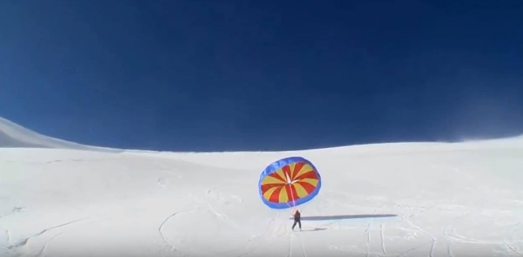 Skifahren mit dem UpSki Segel