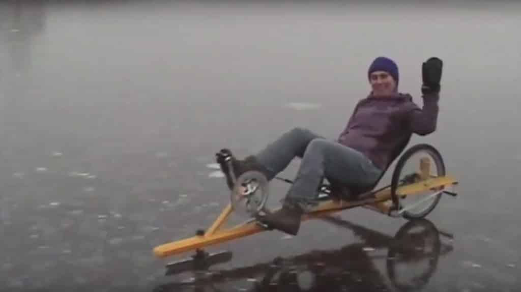 Ice Byk Fahrrad mit Kufen