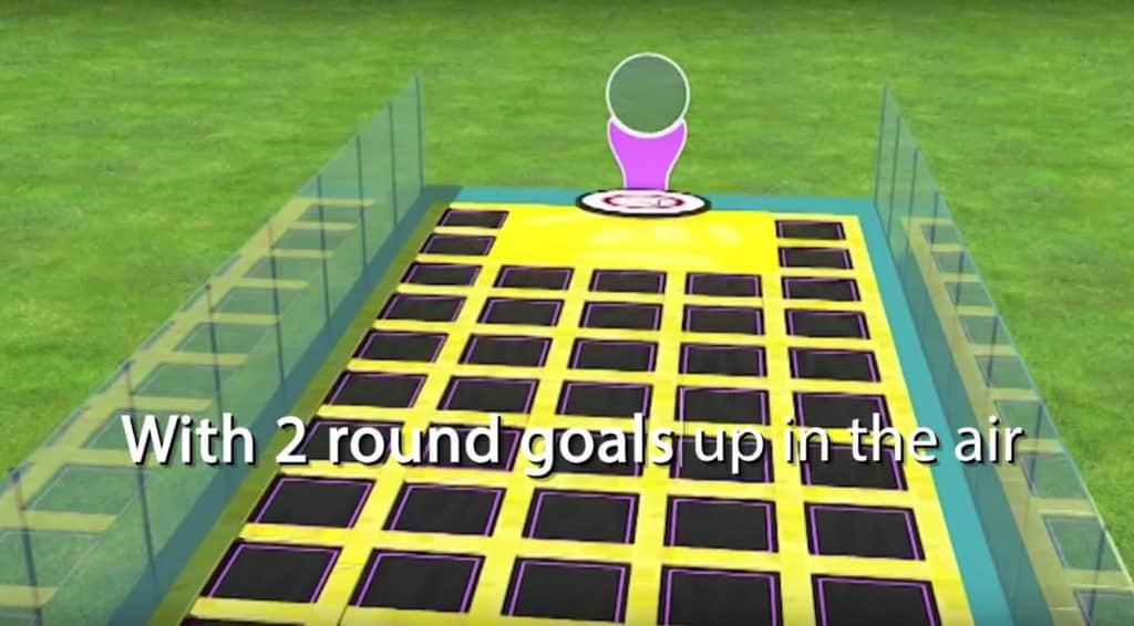 Frisbee Trampoline Spielfeld Entwurf