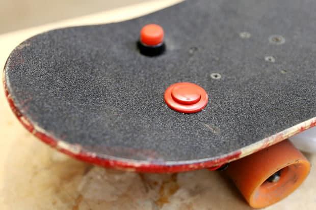 Flammenwerfer Skateboard Knöpfe