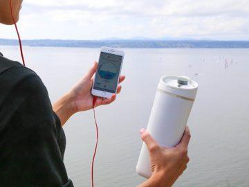Smarte Wasserflasche mit App