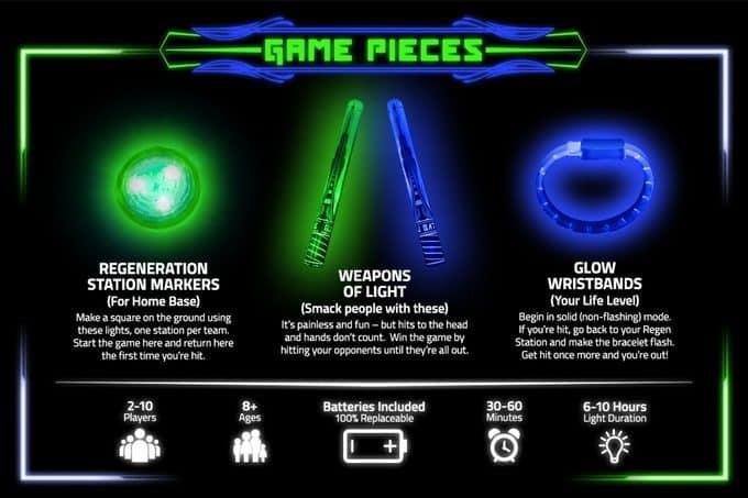 Glow Battle Lichtschwert Spiel