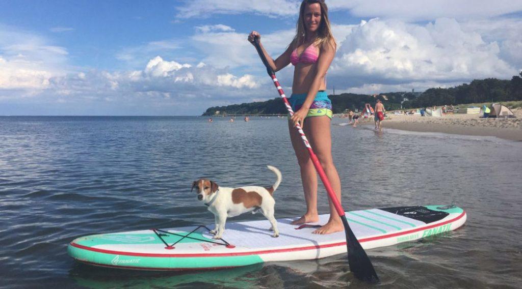 SUP mit Hund