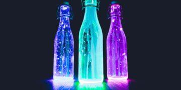 Glow Bottle Bowling