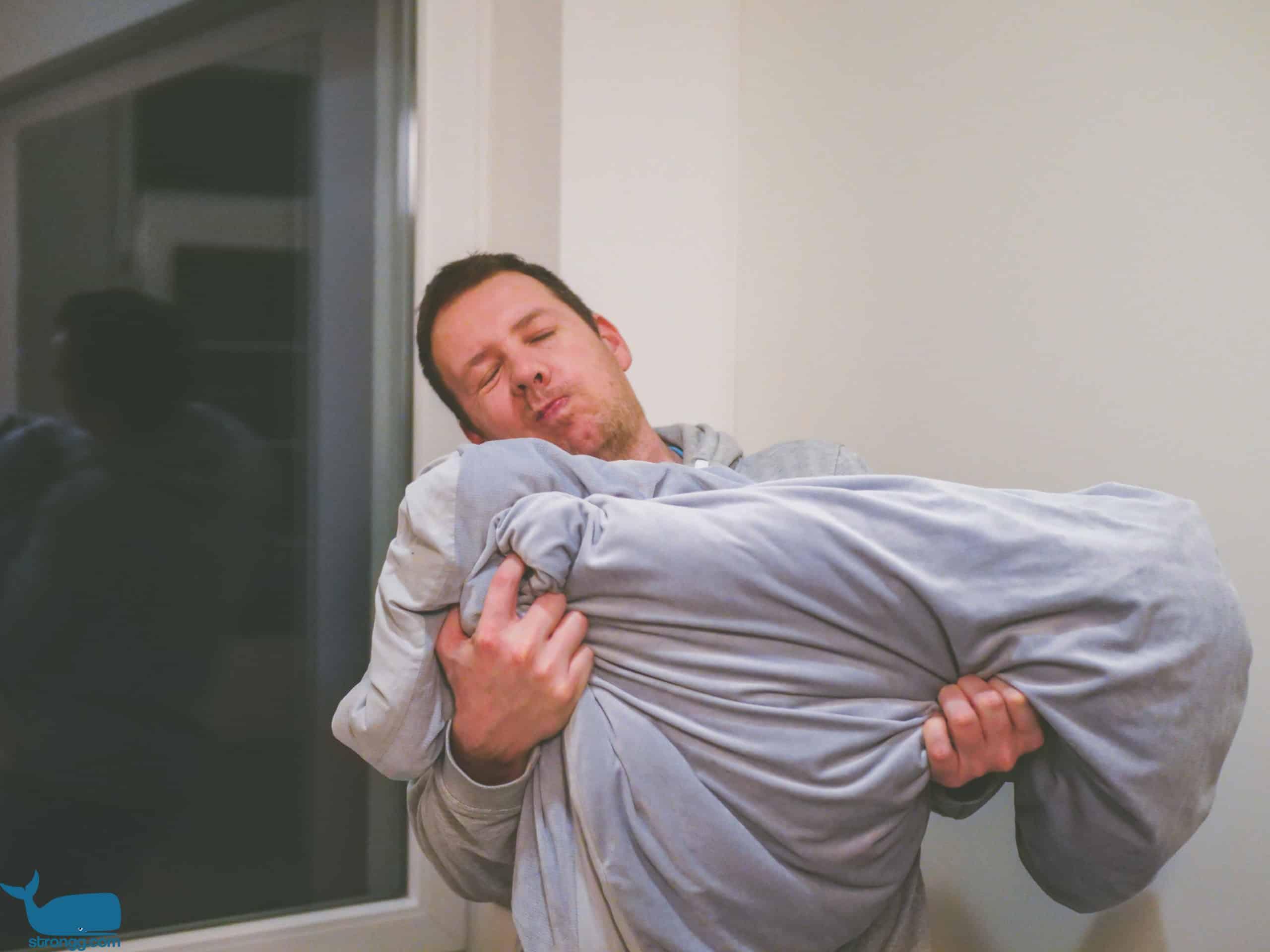 Schlafen mit Gewichtsdecken