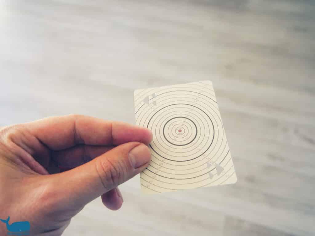 Karten werfen Test