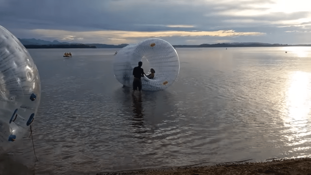 Aqua Zorbing Event am Chiemsee