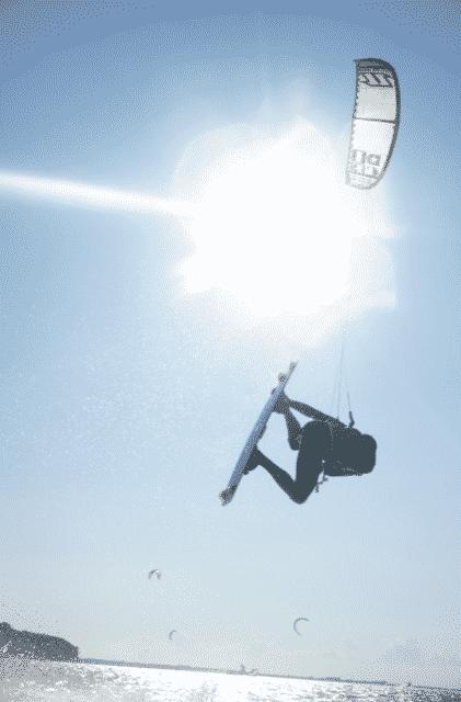 Kitesurfer auf der Ostsee