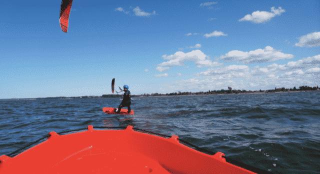 Kitesurfen im Sommer