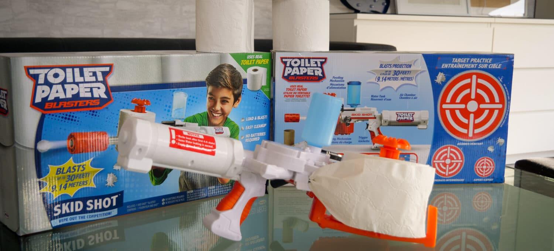 Toilettenpapier Pistole