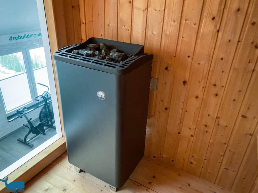 Sauna mit Holz oder Elektro-Ofen
