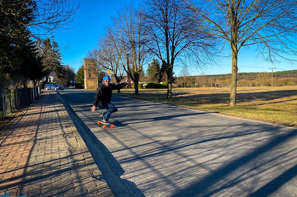 E Skateboard Loaded Unlimited Race Kit Test