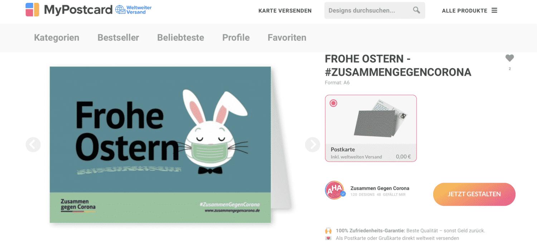 Mypostcard Osterpostkarten kostenlos