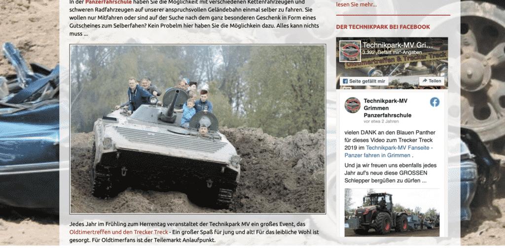 Aktivitäten in Mecklenburg-Vorpommern