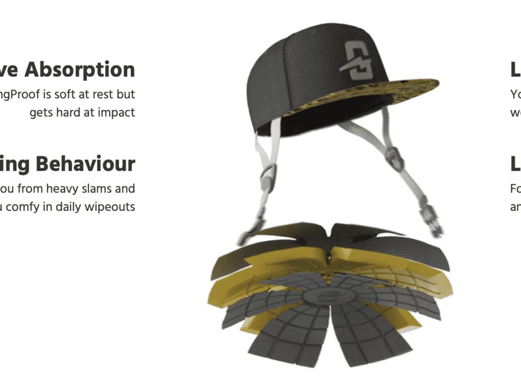 Mütze als Helm