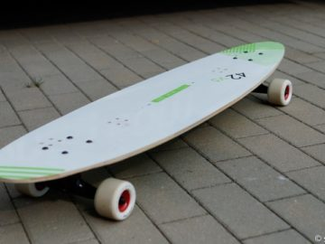 Recycling: Longboard aus Kiteboard