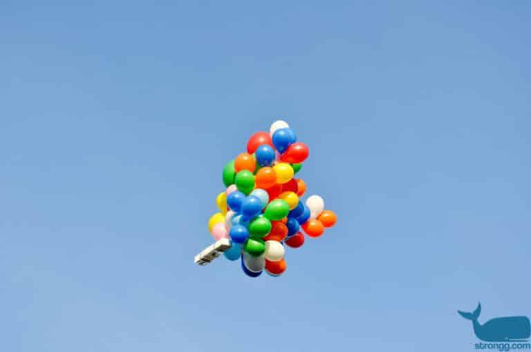 Luftaufnahmen mit Action Cam und Ballons