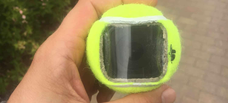 Ballkamera GoPro im Tennisball