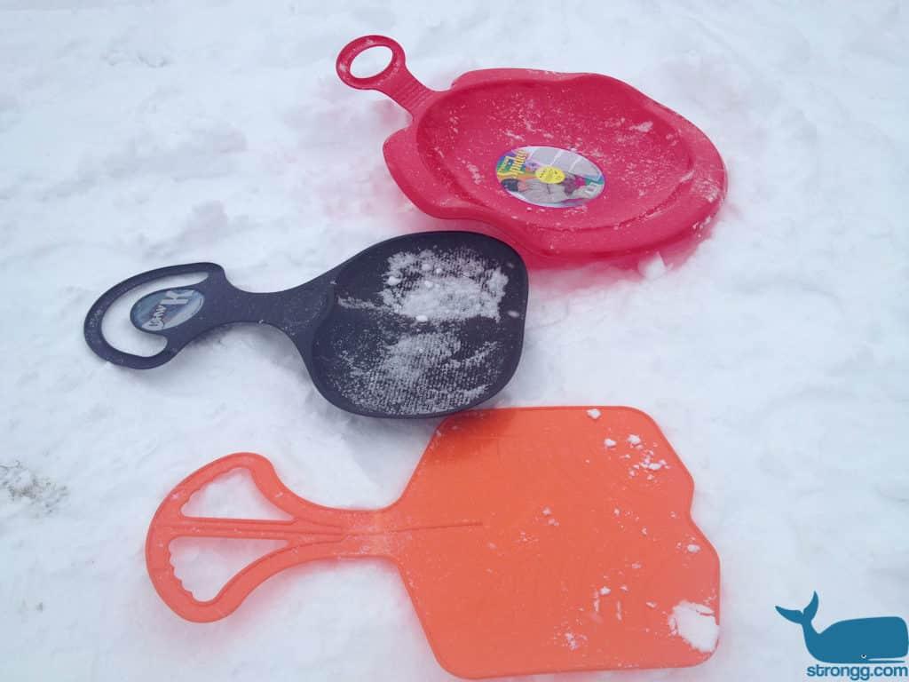 Porutscher im Schnee