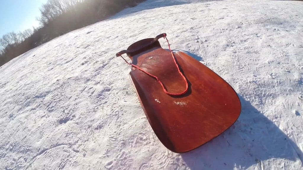 Slalom Schlitten Test