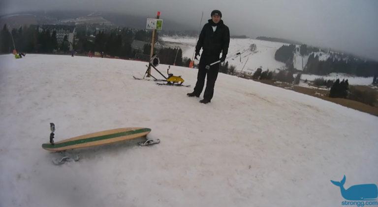 Skaten im Schnee