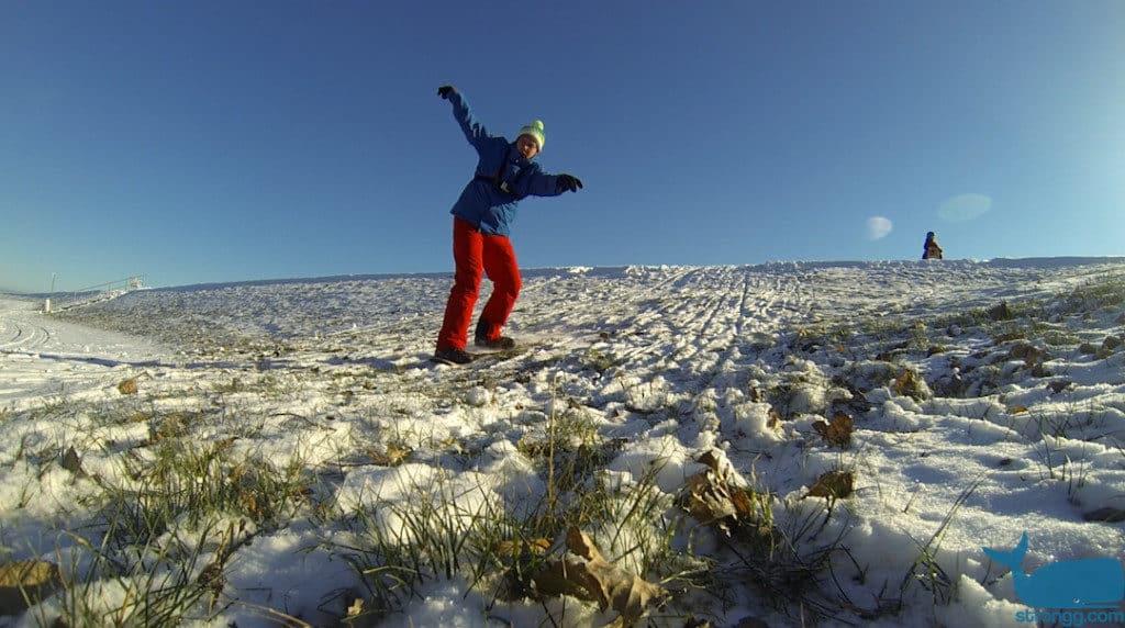 Freizeitaktivitäten im Schnee