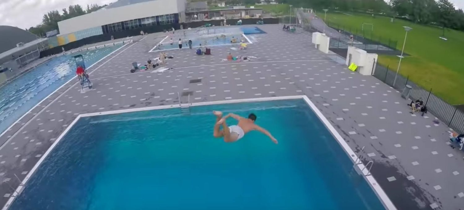Belly flopping
