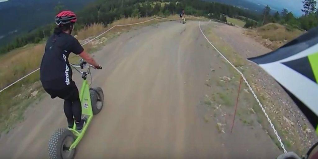 Trend: riesige Roller in den Bergen