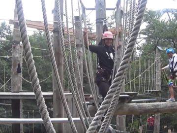 Action im Kletterpark im Harz