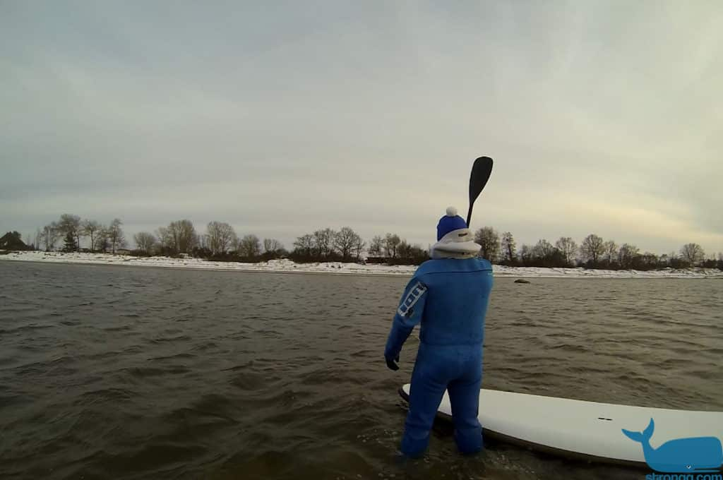 sup surfen im Winter