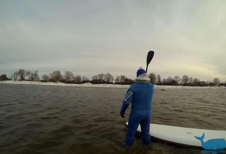 sup surfen im Winter