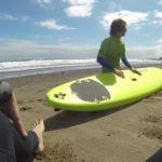 Einweisung vom Surflehrer